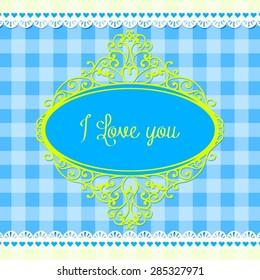 Valentine. I love you. card.