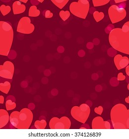 Valentine pattern. Seamless texture with hearts. Valentines day vector. Flat style background for invitation.