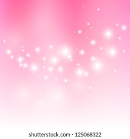 Valentine pink background with starry lights
