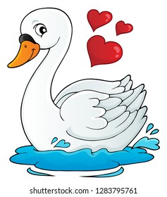Valentine swan theme image 1 - eps10 vector illustration.