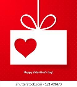 Valentine's applique card/background. Vector illustration for your design.