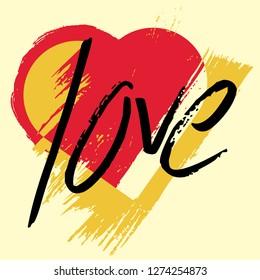 Valentine's background design. Love card