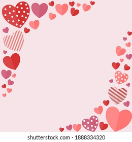 Valentines background. Hearts background. Hearts frame