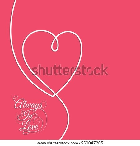 Valentines Card Happy Valentines Day Stock Vector Royalty Free