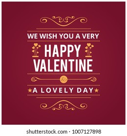 Valentine's card with red background