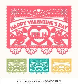 Valentine's Cut Out Paper Set