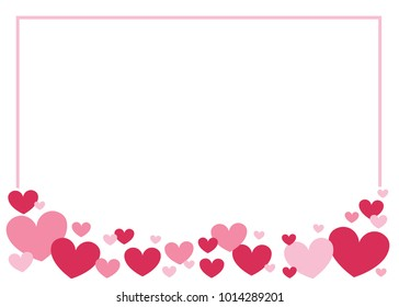 Valentine's Date Heart Border Vector Background, Valentine's Day Border Background, Heart Border, Heart Border, Valentine's Card Background, Heart Vector Background for greeting cards
