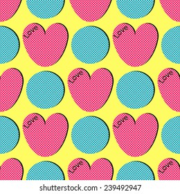 Valentine's Day abstract background vector illustration