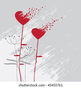 Valentine's day abstract with dandelion