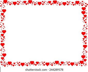 border hearts images stock photos vectors shutterstock rh shutterstock com heart border clip art heart borders and frames