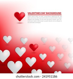 Valentines day Background. Can Use for Greeting Card, invitation, and banner