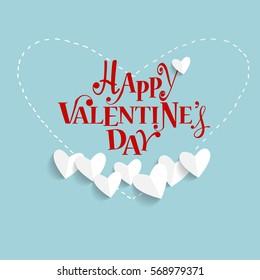 Valentines day background design. Vector illustration.