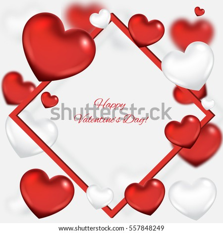 Valentines Day Background Frame Stock Vector Royalty Free