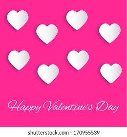 Valentines Day background with Happy Valentine's Day text. Vector illustration EPS10
