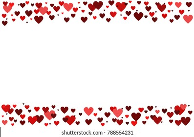 Valentines Day Background . Romantic background of hearts.