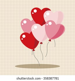 Valentine's Day balloons theme elements