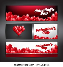 Valentines day Banner. Can use for greeting card, invitation card, background and banner.