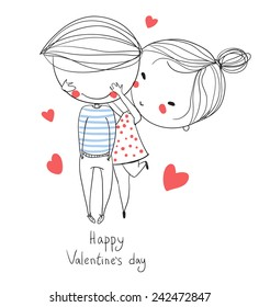 Couple In Love Cartoon Images Stock Photos Vectors Shutterstock