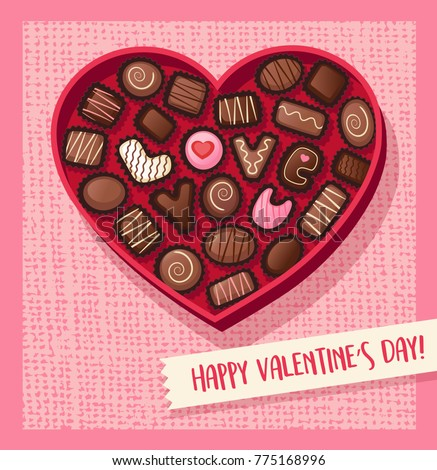 Valentines Day Candy Heart Shaped Valentines Stock Vector Royalty