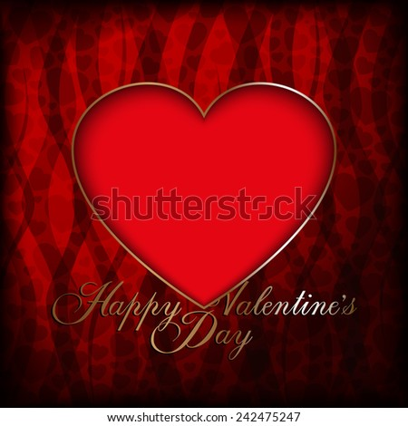 Valentines Day Card Background Template Stock Vector Royalty Free