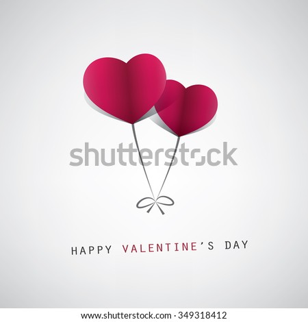 valentines day card design template heart stock vector royalty free