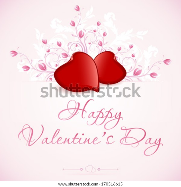 Valentine's Day Card with Floral elements