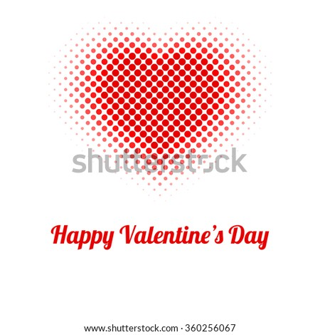 Valentines Day Card Heart Red Dots Stock Vector Royalty Free