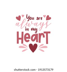 Valentine's day card with romantic phrase about love isolated on white background. Vector Illustration - Vector - Shutterstock ID 1913573179