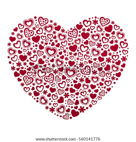 Valentines day card template hearts card stock vector royalty free valentines day card template hearts card template hearts background vector illustration maxwellsz