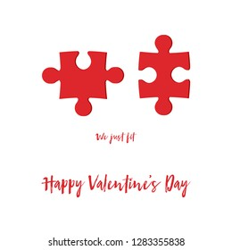 Valentines Day card vector graphic