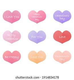 Valentine's Day Valentine's cards. Vector illustration. Greeting cards. Happy Valentine's day greeting cards with handwritten text.
