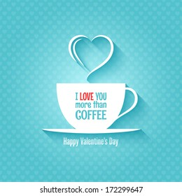 valentines day coffee cup concept design background