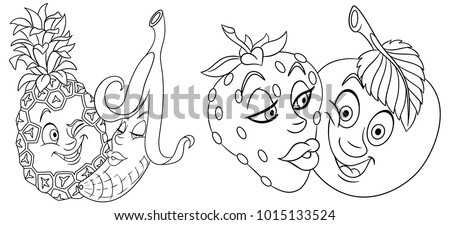 Valentines Day Coloring Page Greeting Card Stock Vector Royalty