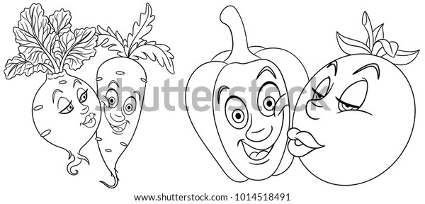 Valentines Day Coloring Page Greeting Card Stock Vector Royalty Free 1014518491