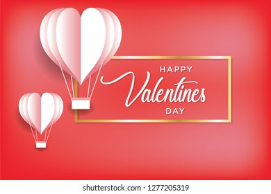 Valentine's Day concept, heart shaped balloon. vector illustration. Wallpapers, leaflets, invitations, posters, brochures, banners. EPS 10