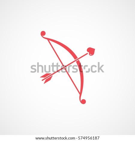Valentines Day Cupid Bow Arrow Heart Stock Vector Royalty Free