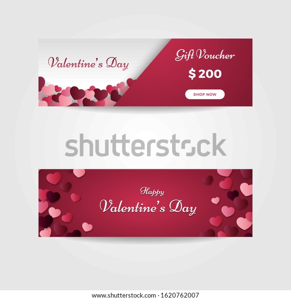 Valentines Day Gift Card Vector Illustration Stock Vector Royalty Free 1620762007