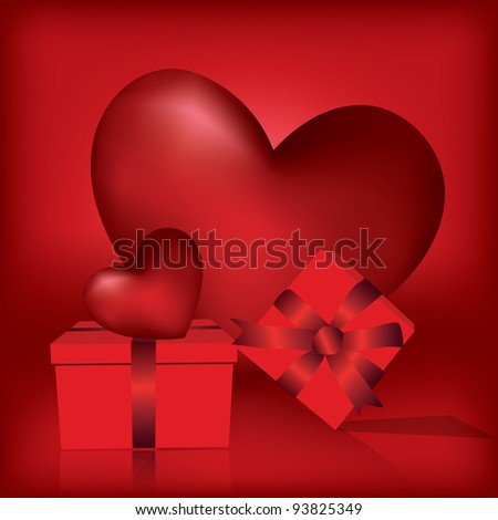 Valentines Day Greeting Card Boxes Heart Stock Vector Royalty Free