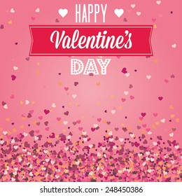 Valentines Day greeting card cover background