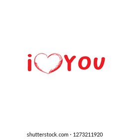 Valentines Day Greeting Card or Poster with Sketch. Laser Cutting File Isolated on White Blackground. Vector Engraved with Lettering Wishes Love You