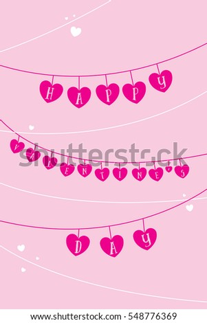 Valentines Day Greeting Card Vector Format Stock Vector (Royalty ...
