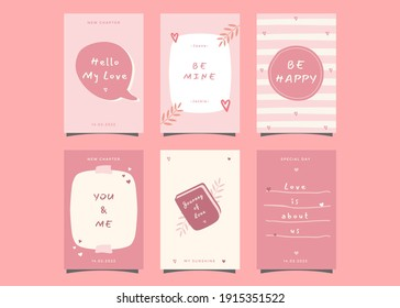 Valentine's day greeting cards design ready to print.