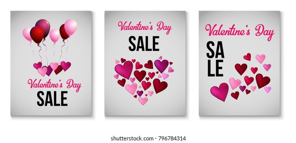 Valentines Day Greeting Cards Love Holiday Stock Vector Royalty