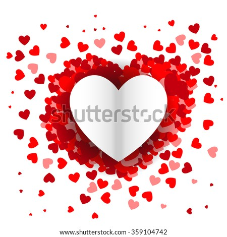 cd798ad740a Valentines Day Heart Background Congratulation Card Stock Vector ...