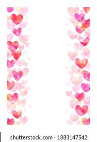 Valentine's day heart background illustration, frame