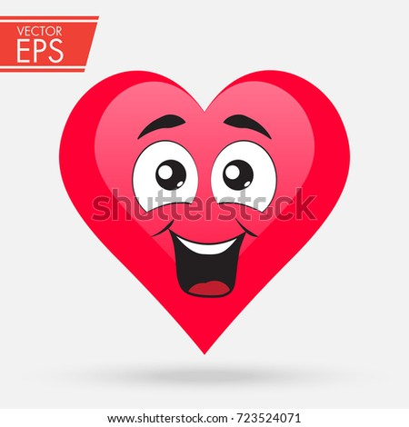 Valentines Day Heart Cute Love Cartoon Stock Vector Royalty Free