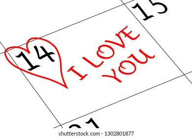 Valentine`s Day Heart I love You