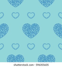 Valentine's Day, the human heart, love Background texture.  Endless abstract pattern.