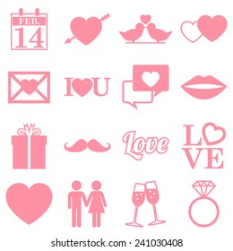 Valentines Day Icons - flat design infographics - vector eps10