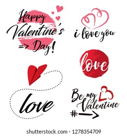 Valentine's day label collection. Love stickers